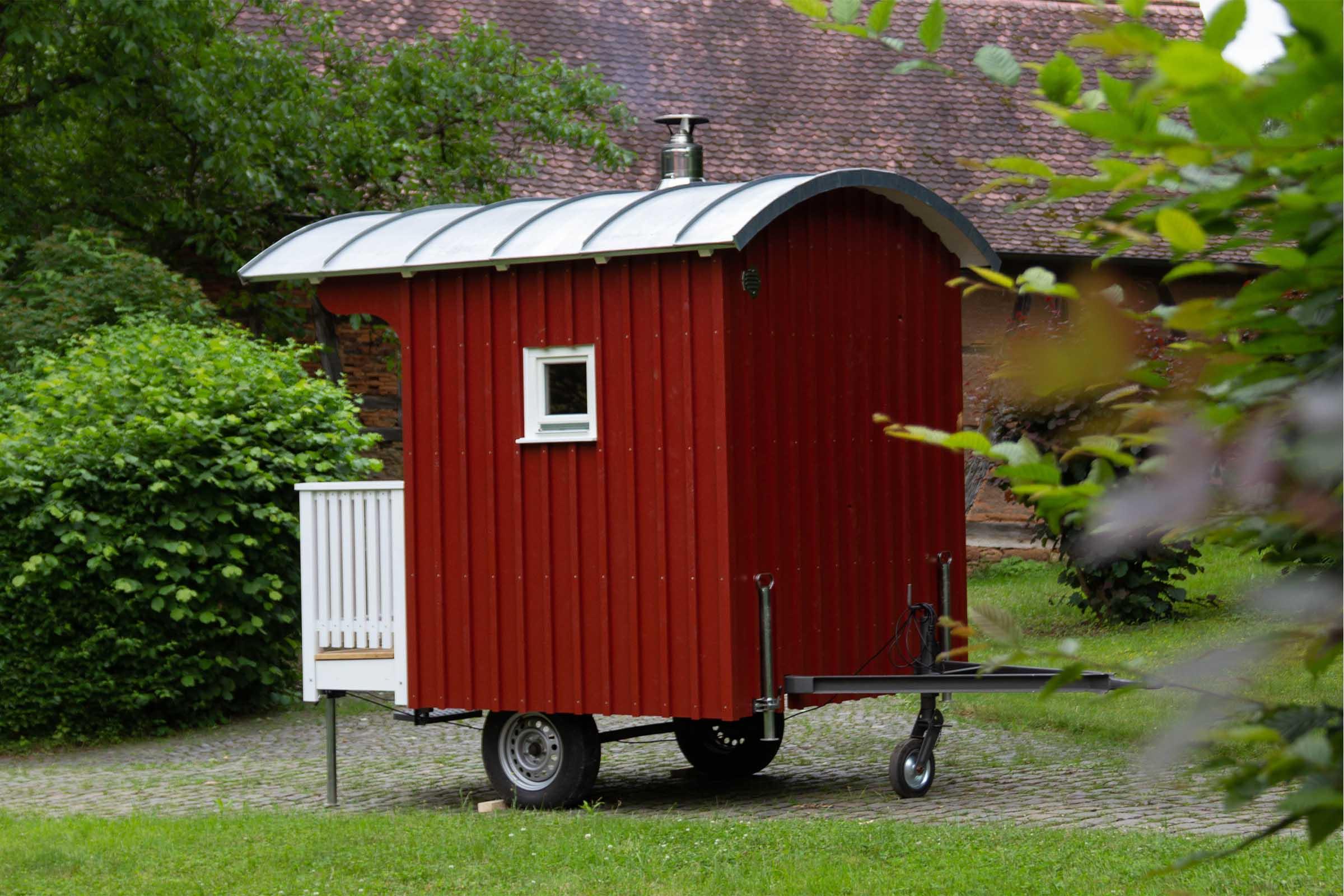 Saunawagen im Einsatz
