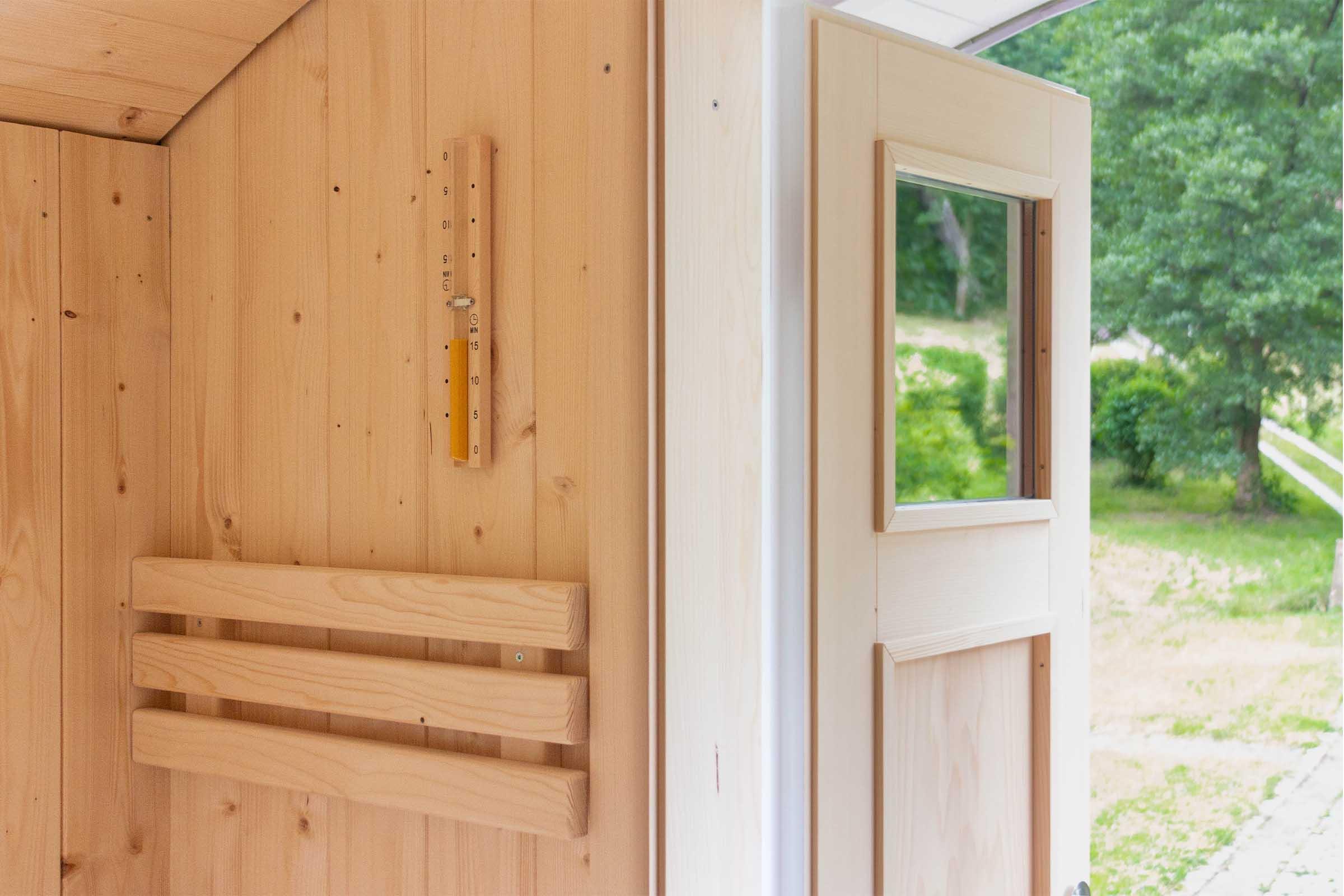 Saunawagen Detail